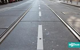 Schienen der Linie 49
