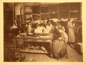 Borten wurden in Handarbeit gefertigt