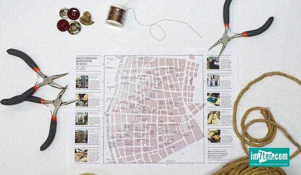 Titelbild mit Faltplan unsichtbares Handwerk in Neubau