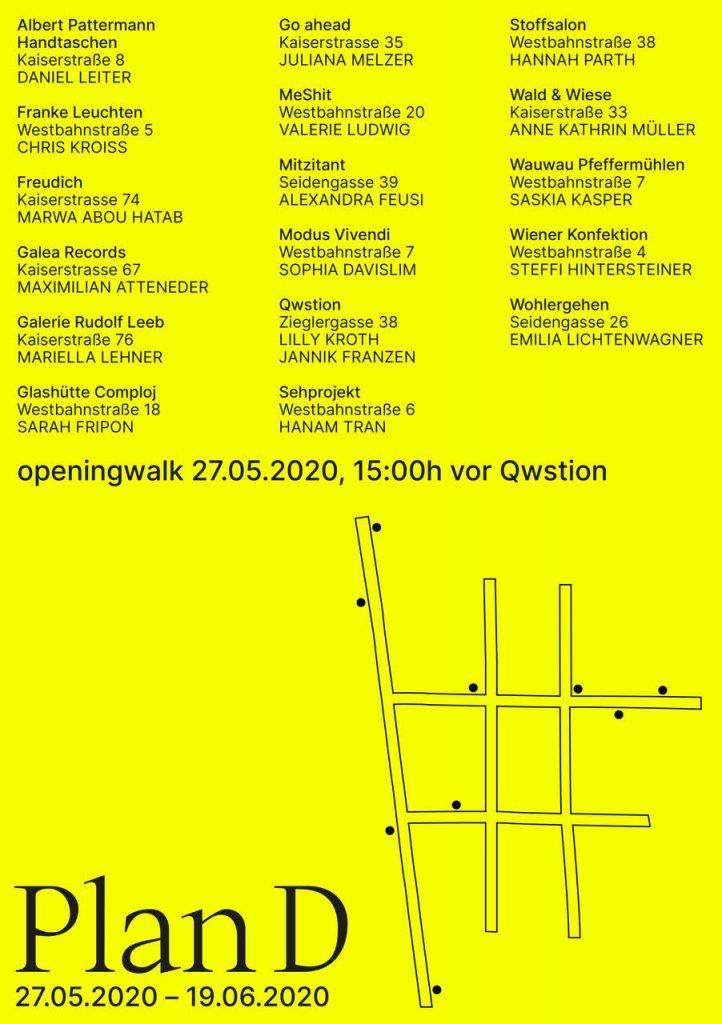 Plan D Kunstauststellung in Wien Neubau