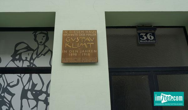 Gedenktafel am Klimt Haus