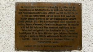 Gedenktafel Frankfurter