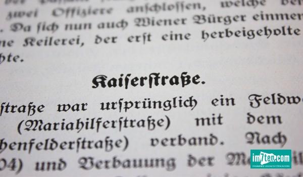 Buchausschnitt Kaiserstrasse
