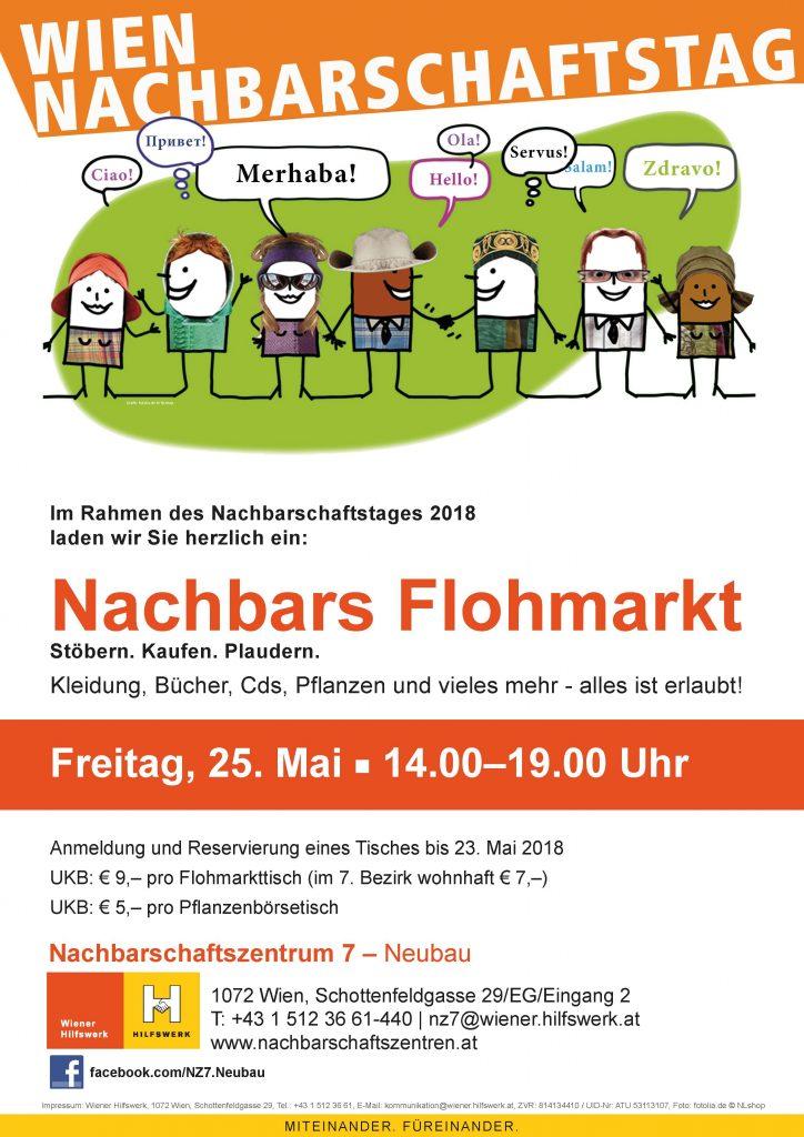 Europäischer Nachbarschaftstag Plakat Flohmarkt