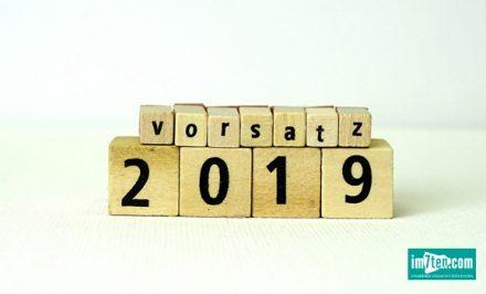 Vorsätze am Neubau für 2019