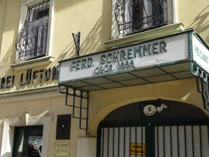 Firma Ferdinand Schremmer, Bandgasse 4, gegründet 1888