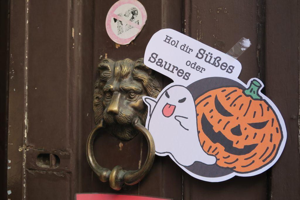 Türschild Geist Halloween