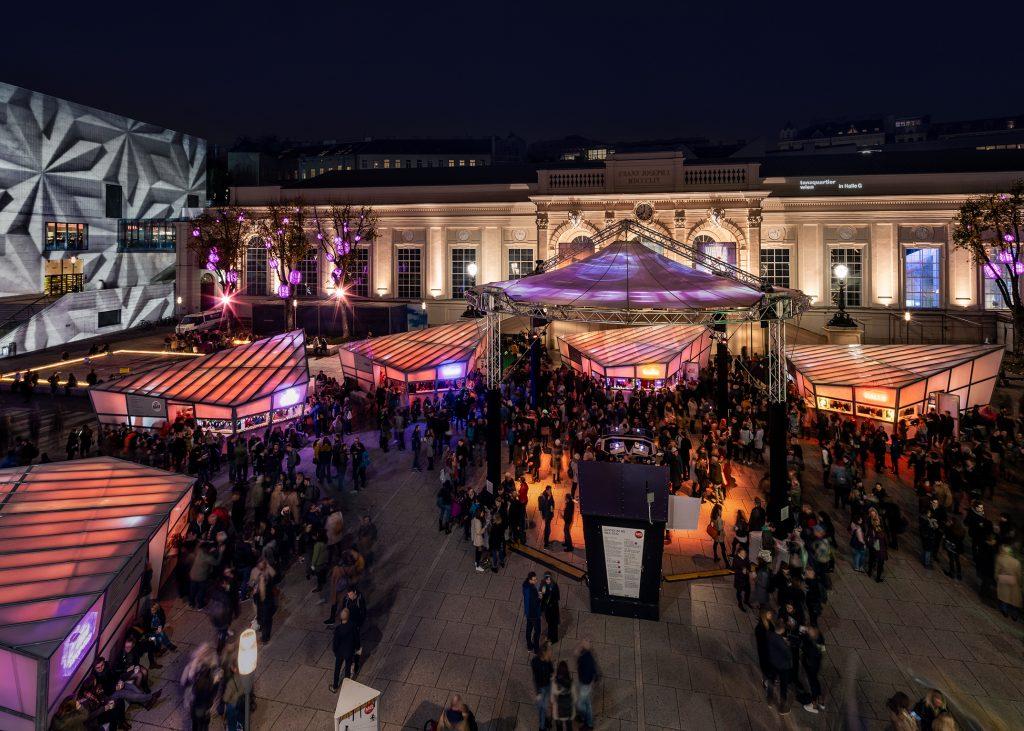 Advent am Neubau: Das MQ in 1070 Wien erstrahlt im Licht der Vorweihnachtszeit