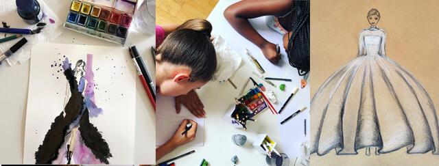 Kids beim Zeichnen