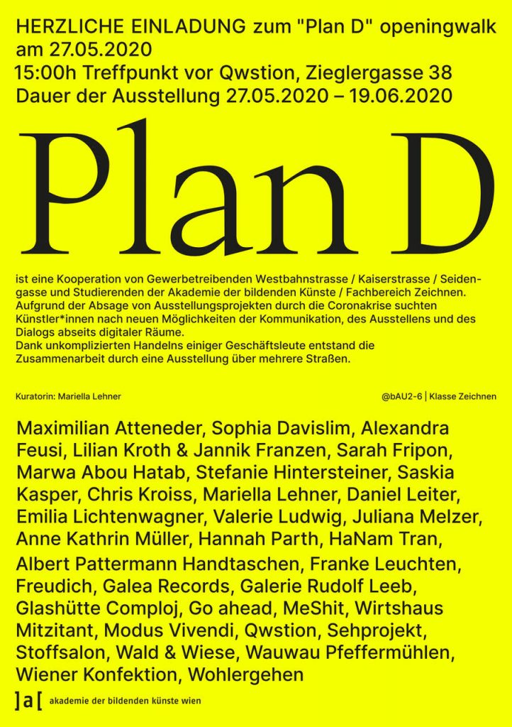Coronakunst - Plan D zeigt, wie kreativ die Kunstszene Wiens ist