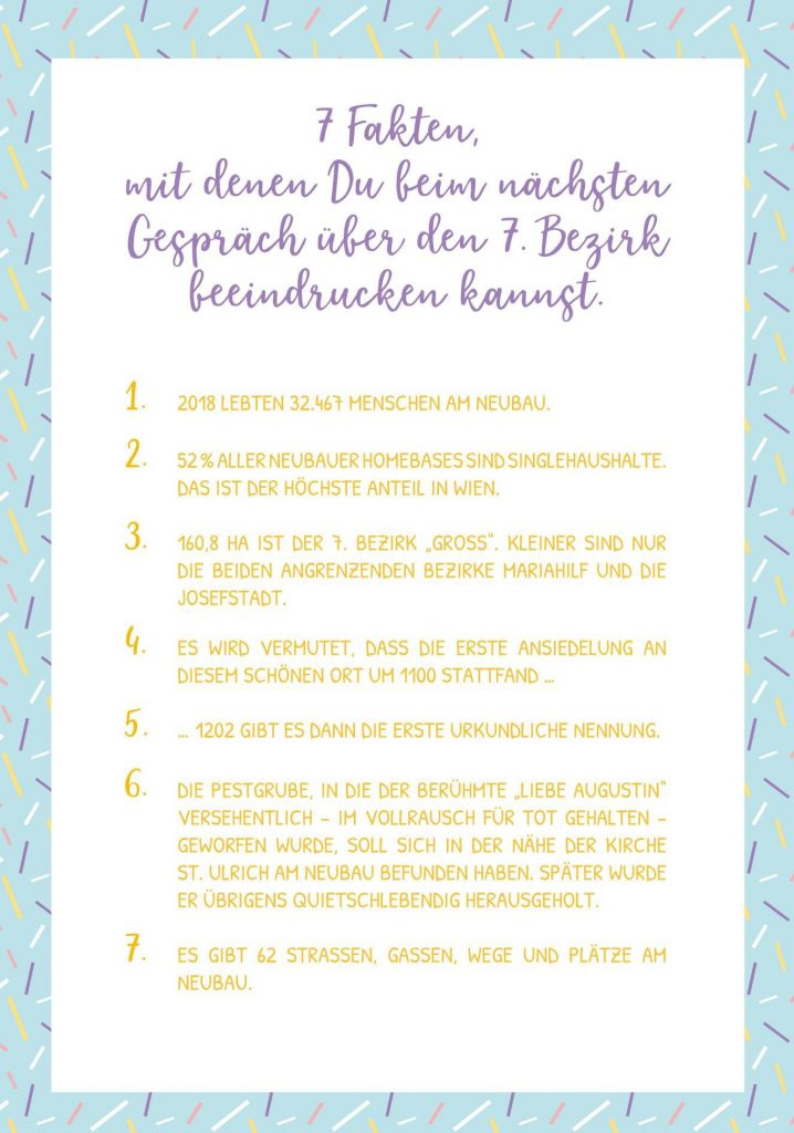 7 Fakten über den 7. Wiener Gemeindebezirk