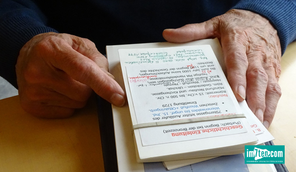 Mitschriften von Herrn Tamchina über Neubau, Wien