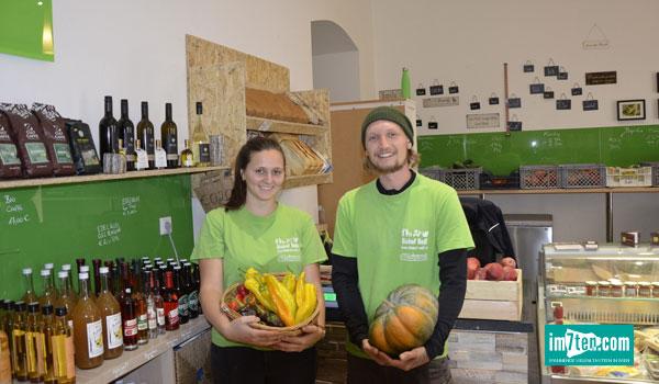 Marion und Fabian im Gemuesewerk