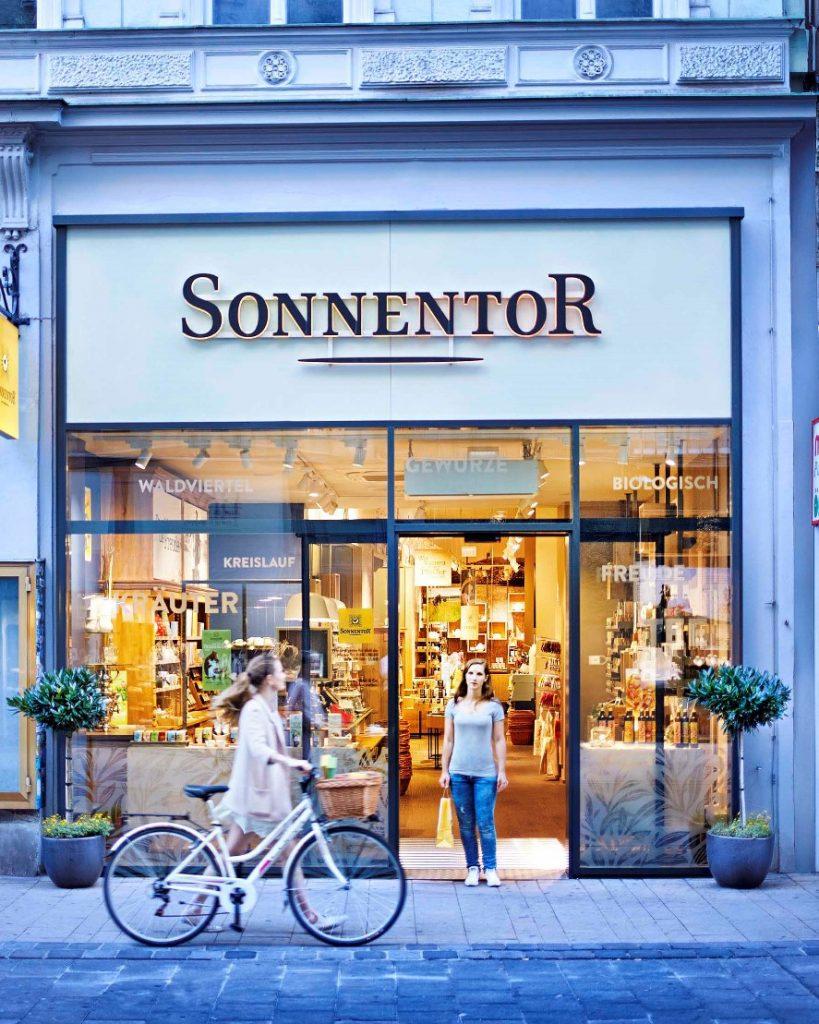 Das Sonnentor-Geschäft in der Neubaugasse 29, 1070 Wien